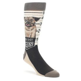 Men's Pug Dog Mug Shot Socks by Statement Sockwear