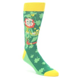 Irish Leprechaun Good Luck Socks Lucky Charms by Statement Sockwear