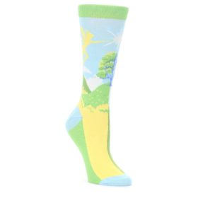 Blue-Green-Pixie-v.-Fairy-Womens-Dress-Socks-Statement-Sockwear