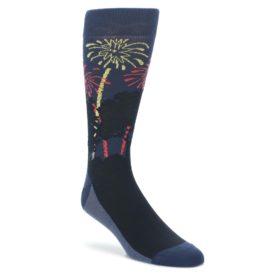 Navy-Red-White-Fireworks-Mens-Dress-Socks-Statement-Sockwear