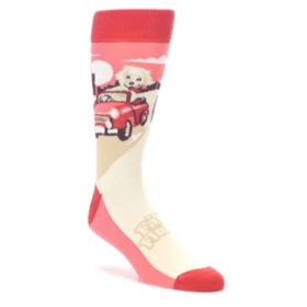 Fast-and-the-Fluffiest-Puppy-Dog-Mens-Dress-Socks-Statement-Sockwear