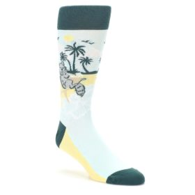 Light-Blue-Chinchillin'-Chinchilla-Mens-Dress-Socks-Statement-Sockwear