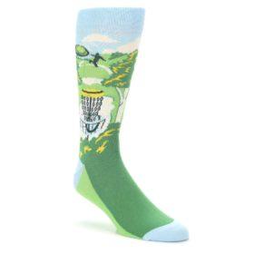 Green-Disc-Golf-Mens-Dress-Socks-Statement-Sockwear