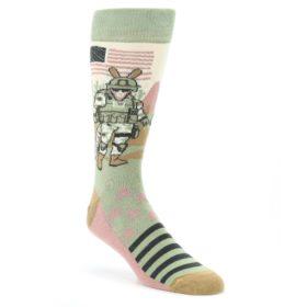 Green-Military-Army-Armor-dillo-Mens-Dress-Socks-Statement-Sockwear
