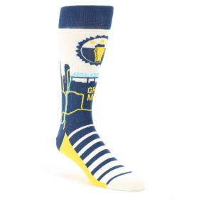 Navy-Yellow-Beer-City-USA-Mens-Dress-Socks-Statement-Sockwear