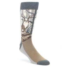 Gray-Brown-Jackalope-Mens-Dress-Socks-Statement-Sockwear