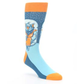 Blue-Orange-Trolling-Troll-Mens-Dress-Socks-Statement-Sockwear