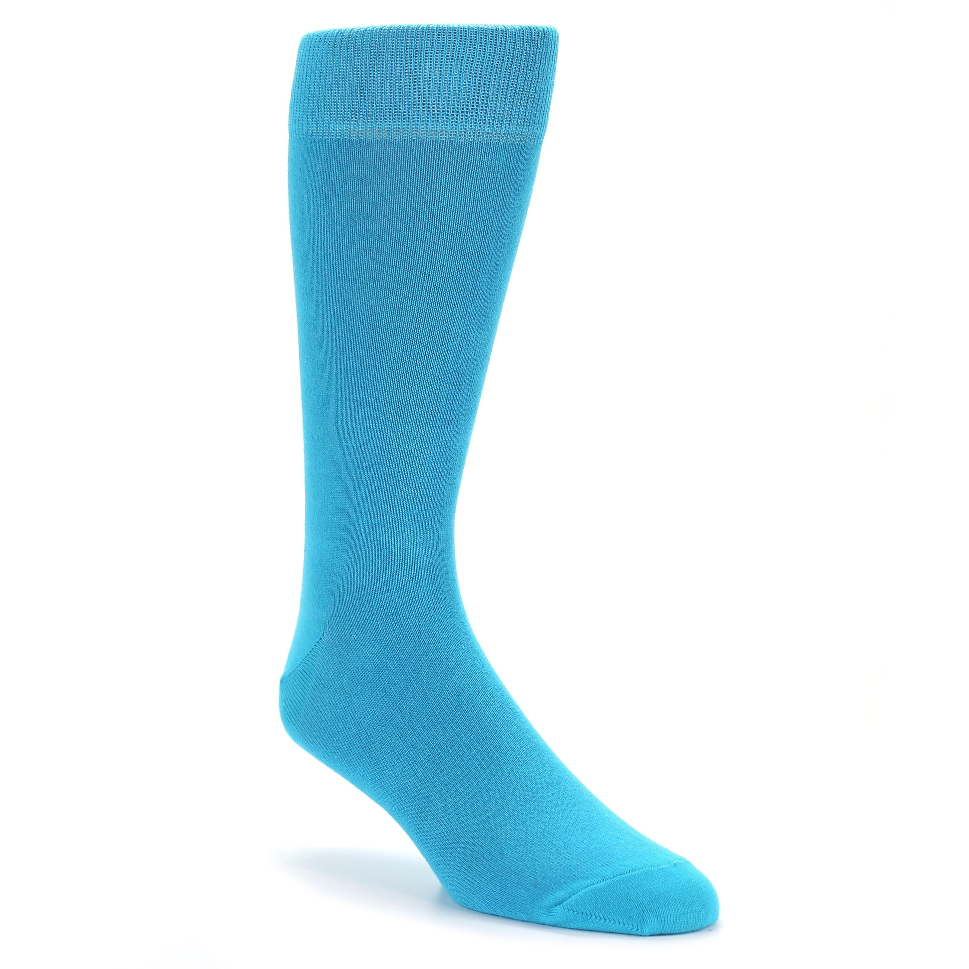 Malibu Blue Solid Color Men&39s Dress Socks – boldSOCKS