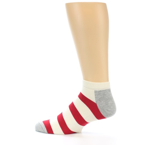 red white stripe men�s ankle socks happy socks