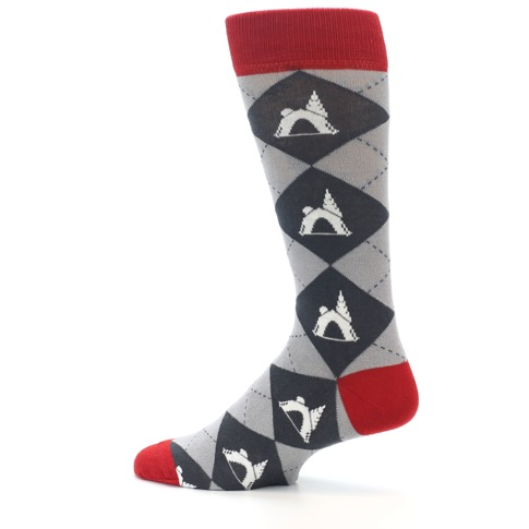 Click and drag image to zoom and pan  sc 1 st  boldSOCKS & Grey Tent Camping Argyle Menu0027s Dress Socks - boldSOCKS