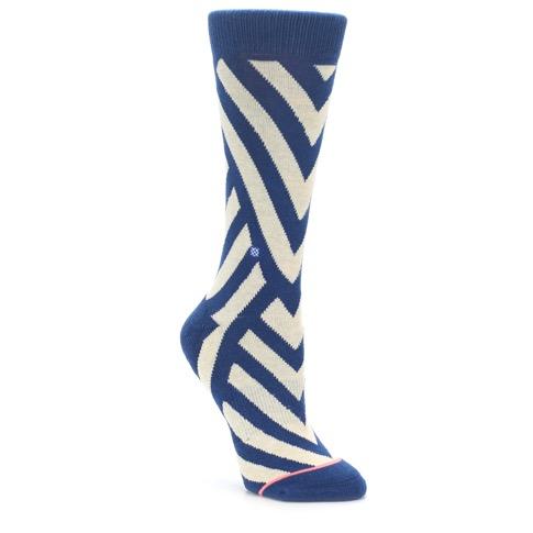 Blue Beige Angle Stripe Women's Casual Socks - STANCE