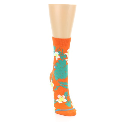 Orange Green Tropical Women's Casual Socks - STANCE