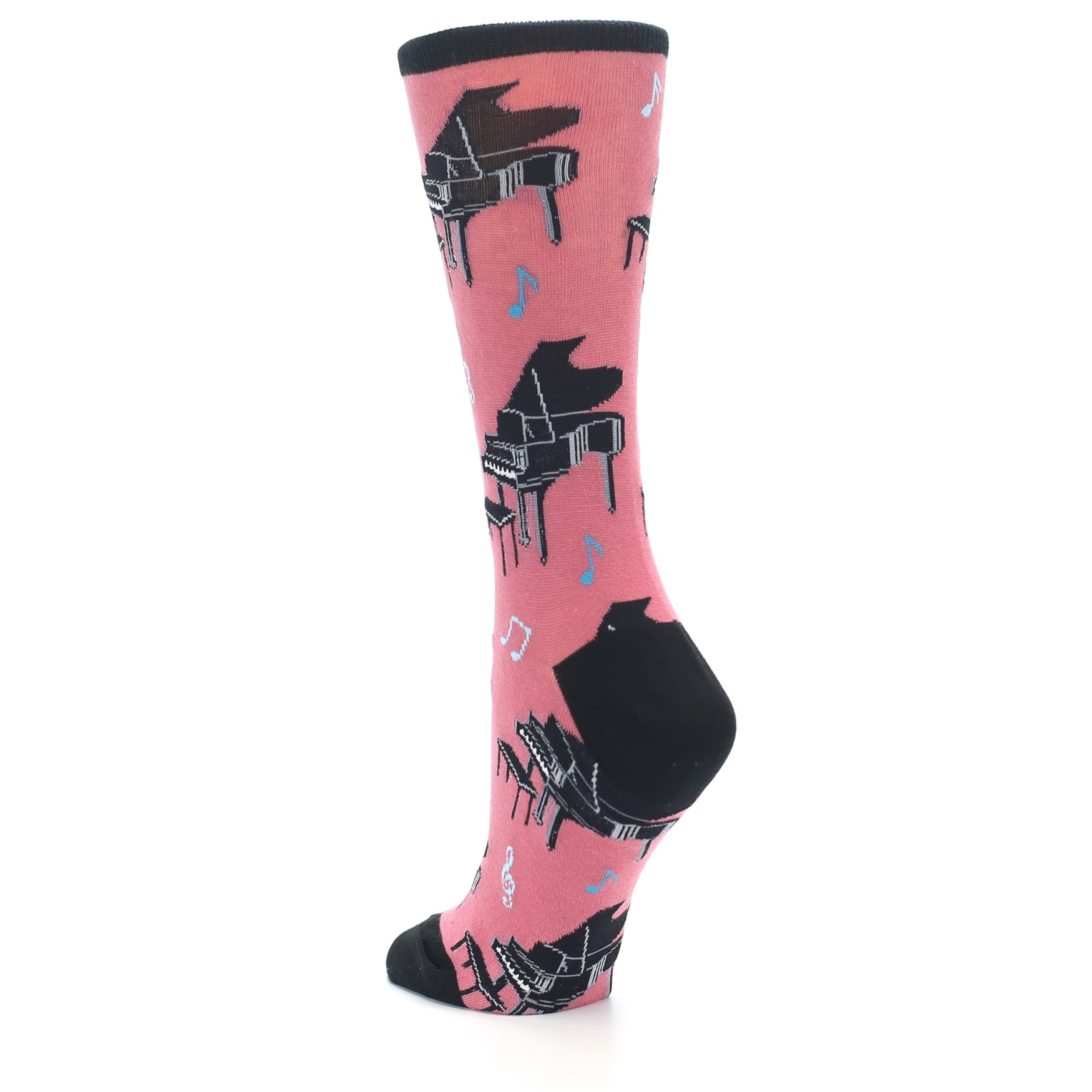Pink Baby Grand Piano Women s Dress Socks Socksmith