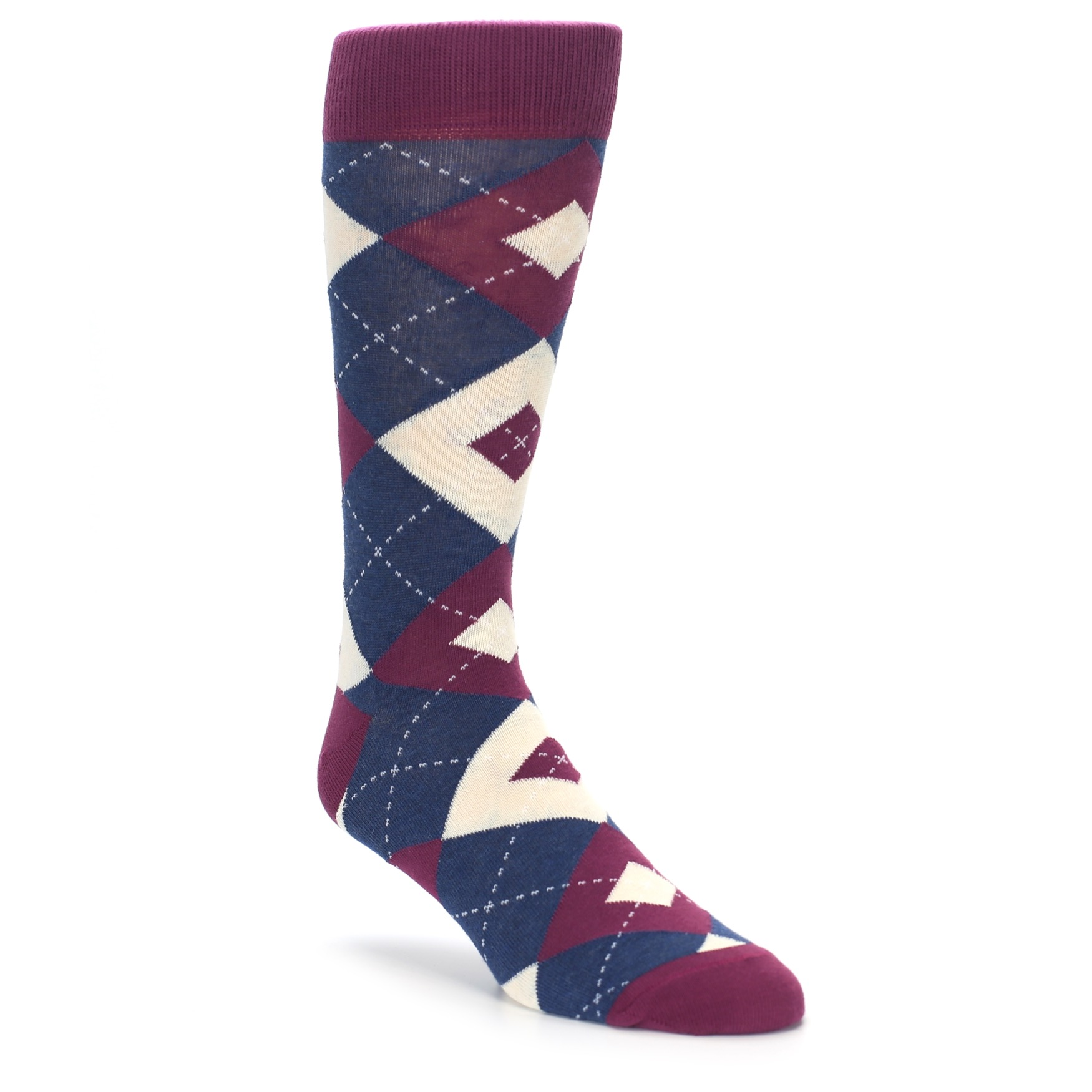 Sangria Argyle Wedding Socks For Groomsmen