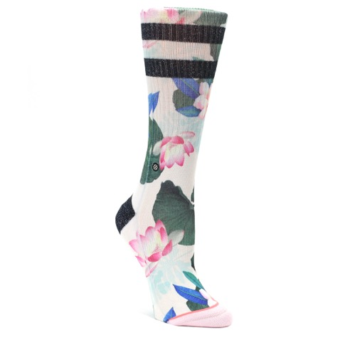 Pink Green Jaclyn Floral Women's Casual Sock - STANCE