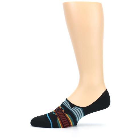 Black Teal Tribal Pattern Menu2019s No Show Liner Socks - STANCE