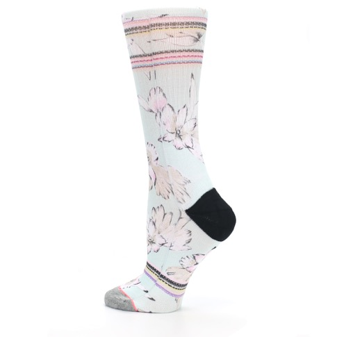 Blue White Pink Flowers Women's Casual Sock - STANCE